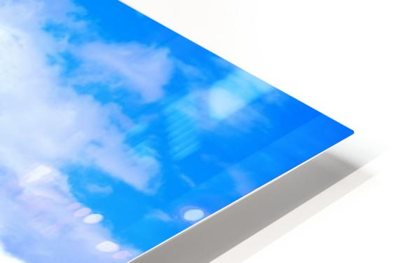 Blue Sky Clouds Field Bright Colorful Scenery Background  HD Sublimation Metal print