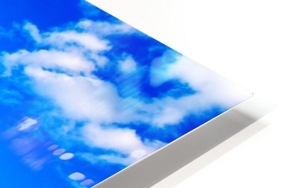 Bright Sky Blue with Clouds Colorful Scenic Background HD Sublimation Metal print
