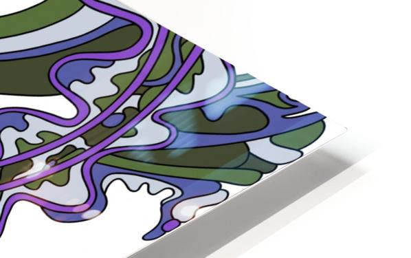 Wandering Abstract Line Art 07: Purple HD Sublimation Metal print