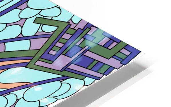Wandering Abstract Line Art 09:  HD Sublimation Metal print
