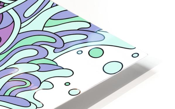 Wandering Abstract Line Art 11: Purple HD Sublimation Metal print