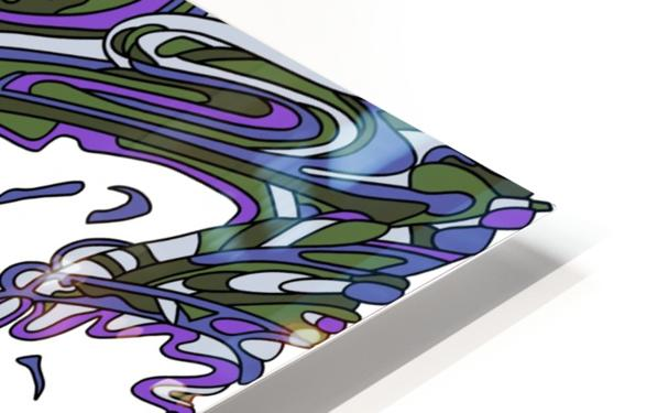 Wandering Abstract Line Art 14: Purple HD Sublimation Metal print