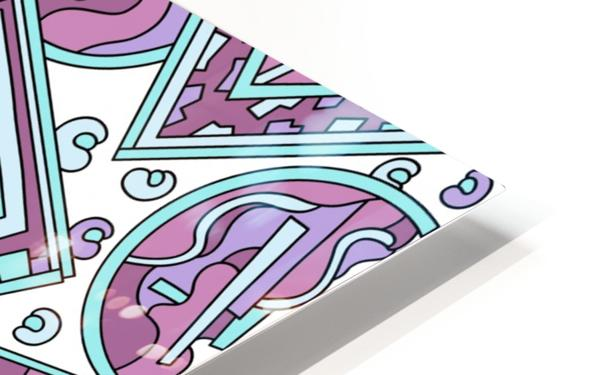 Wandering Abstract Line Art 15: Pink HD Sublimation Metal print