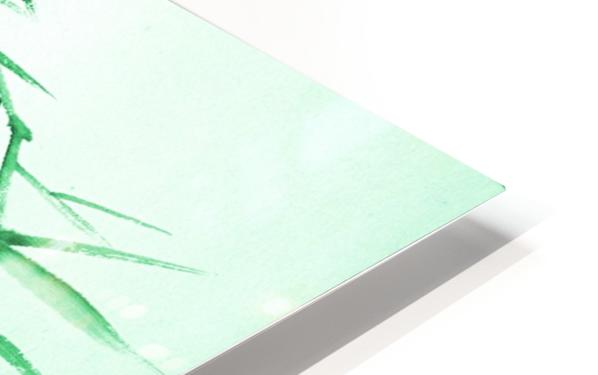 Green Bamboo Twig HD Sublimation Metal print