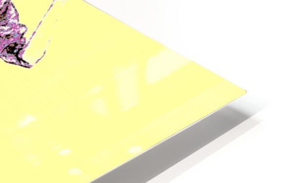 1980's Fashion on Yellow HD Sublimation Metal print