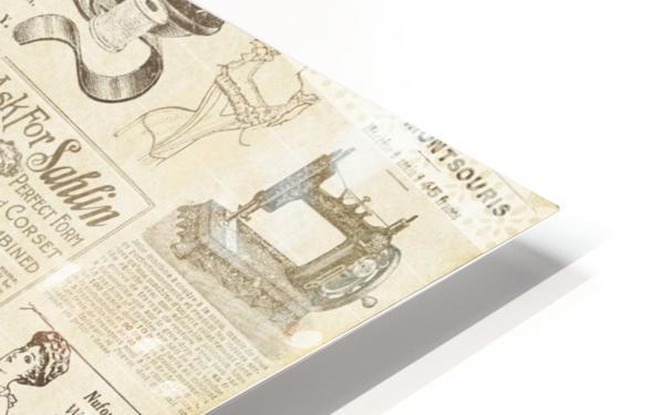 newsprint background HD Sublimation Metal print