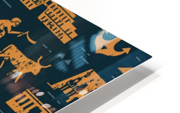 dark seamless pattern symbols landmarks signs egypt HD Sublimation Metal print