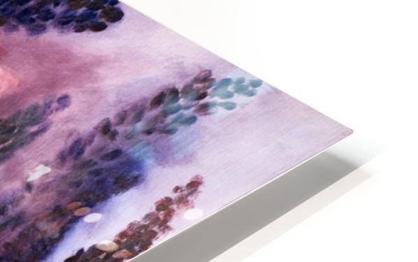 Memories of Lupine Roses and Allium HD Sublimation Metal print