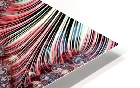 Fractal Art-Silk Brocade HD Sublimation Metal print