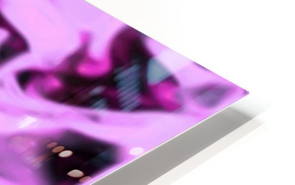 Pink Flamingo - pink grey black abstract swirl abstract wall art HD Sublimation Metal print