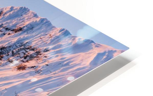 Snowy Peaks HD Sublimation Metal print