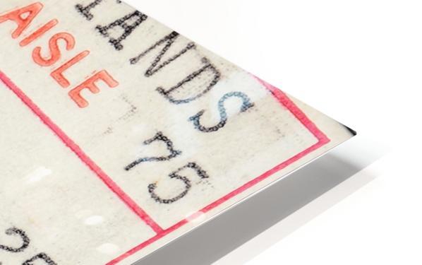 1978 Miami Dolphins Football Ticket Stub Art HD Sublimation Metal print