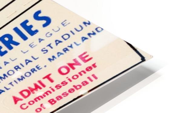 1970_Major League Baseball_World Series_Baltimore Orioles vs. Cincinnati Reds_Memorial Stadium_Row 1 HD Sublimation Metal print