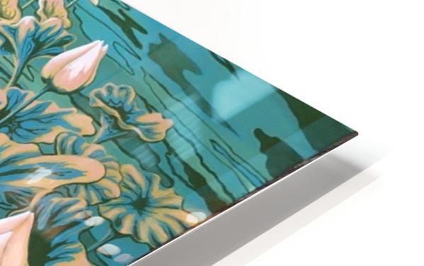 Pink lotus HD Sublimation Metal print