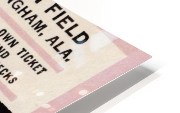 University of Alabama Crimson Tide Football Ticket Stub Art Poster HD Sublimation Metal print