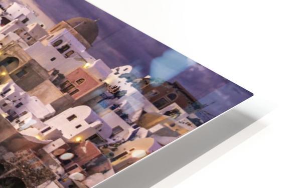 Santorini Sunset HD Sublimation Metal print