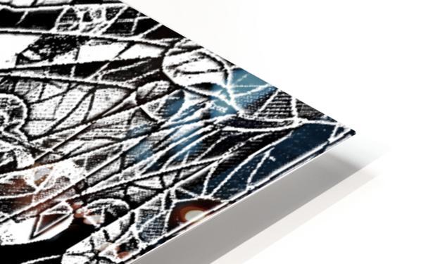 Black & White Art Threshold Light Texture HD Sublimation Metal print