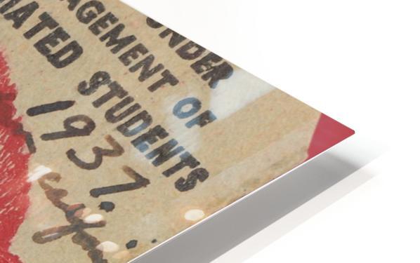 1937 USC Trojans vs. UCLA Bruins College Football Ticket Stub Art Admit One Row One Brand HD Sublimation Metal print