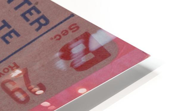 Vintage Football Ticket Stub Art  HD Sublimation Metal print