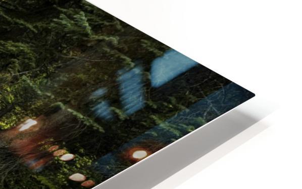 Rocky Mountain Stream HD Sublimation Metal print