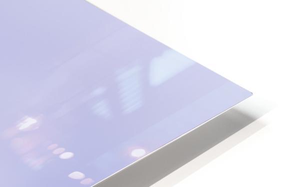 Purple Snowflakes HD Sublimation Metal print