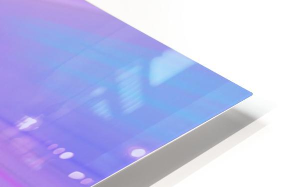 Purple Comet HD Sublimation Metal print