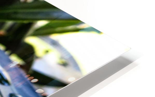 Raindrop on a green leaf HD Sublimation Metal print