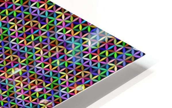 seamlessprismaticgeometricpatternwithbackground HD Sublimation Metal print
