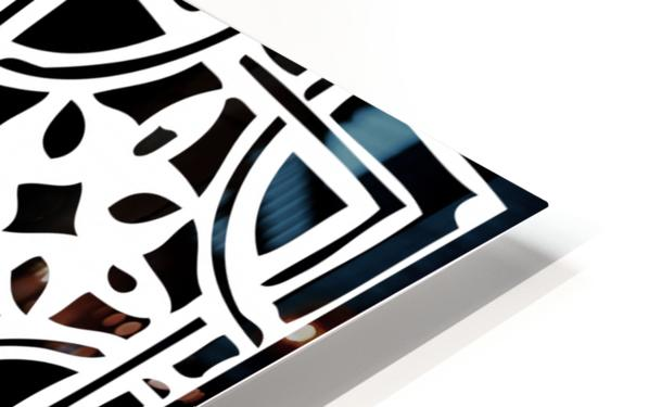 Blackandwhitegeometricgeometrypattern HD Sublimation Metal print