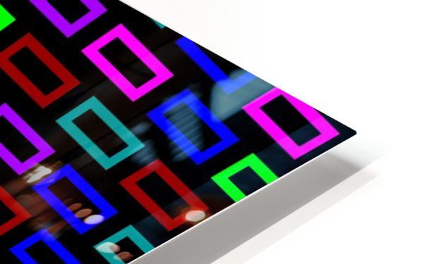 colourfulbrickspatterncolour HD Sublimation Metal print