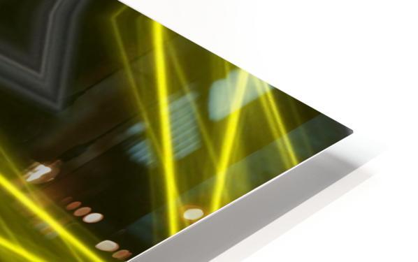 Yellow Neon Lights  HD Sublimation Metal print
