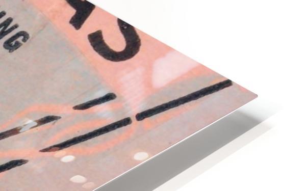 1941 Arkansas Razorbacks Ticket Stub Art HD Sublimation Metal print