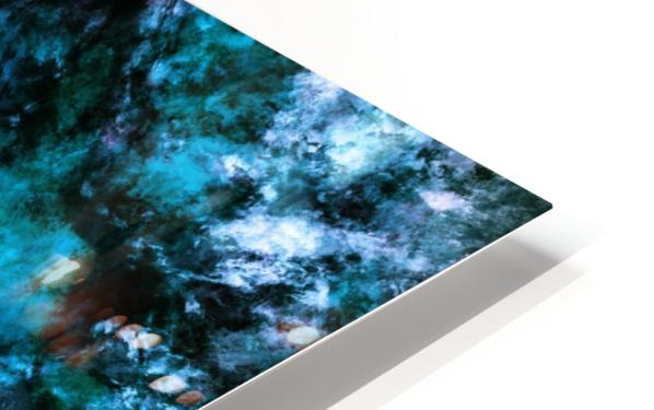 Blue burst HD Sublimation Metal print