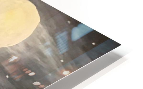 Moonlit Seascape HD Sublimation Metal print