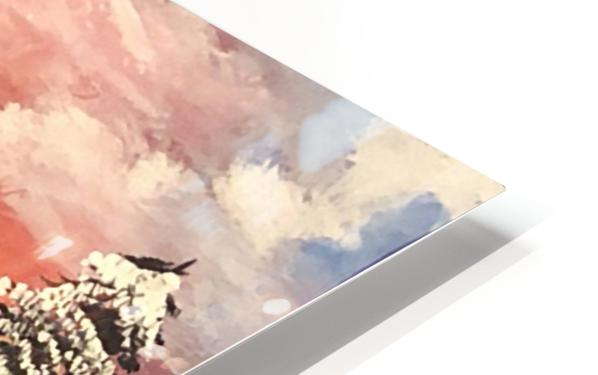 Snow At Sunset HD Sublimation Metal print