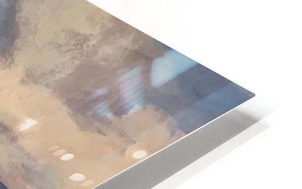 Watercolor Beachscape HD Sublimation Metal print