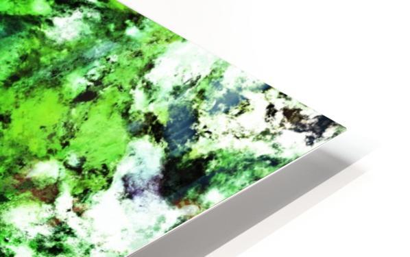 Green deflected HD Sublimation Metal print
