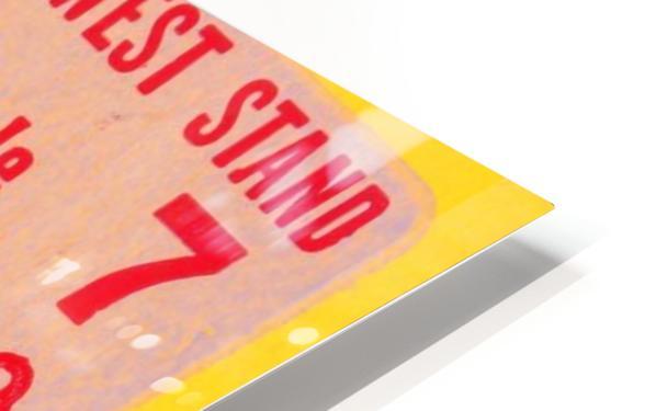 florida state seminoles ticket stub art HD Sublimation Metal print