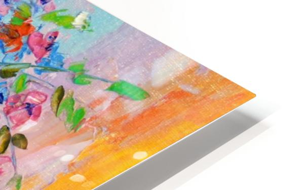 A bouquet of bright flowers HD Sublimation Metal print