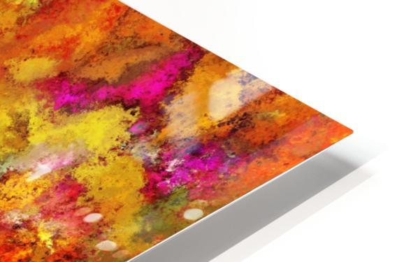 Orange pop HD Sublimation Metal print