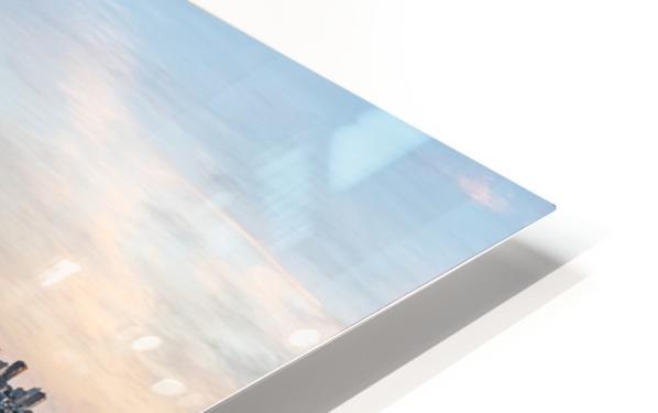 San Francisco City Skyline At Sunset HD Sublimation Metal print