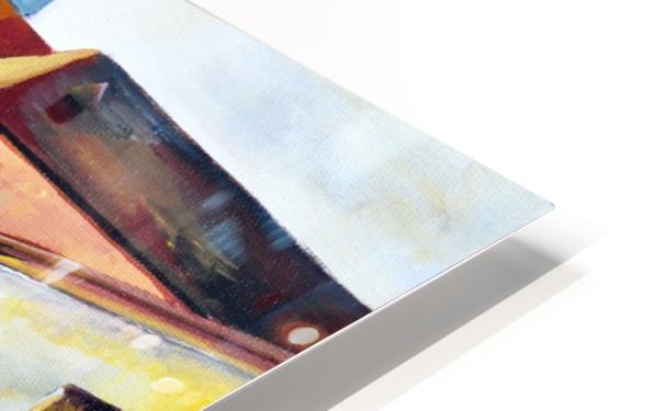Sweden Stockholm Gamla Stan Watercolor HD Sublimation Metal print