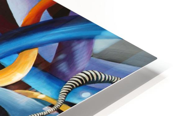 Interlacing Vivid Contemporary Abstract HD Sublimation Metal print
