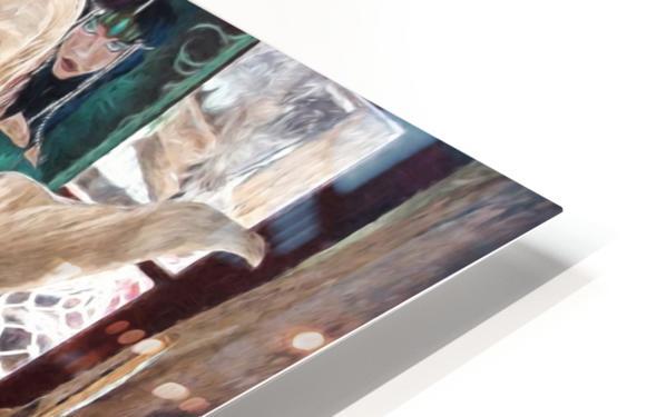 MermaidPondering HD Sublimation Metal print