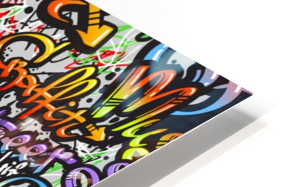 graffiti word seamless pattern HD Sublimation Metal print