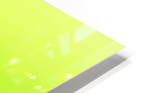Cool White Lilac On Lemon Lime HD Sublimation Metal print