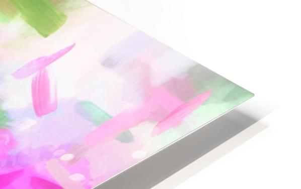 splash painting texture abstract background in pink blue green HD Sublimation Metal print