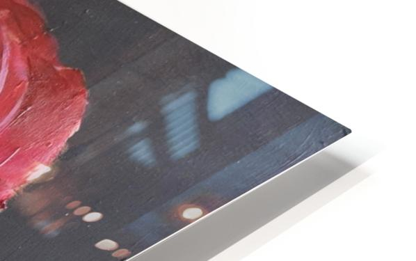 Single red rose HD Sublimation Metal print