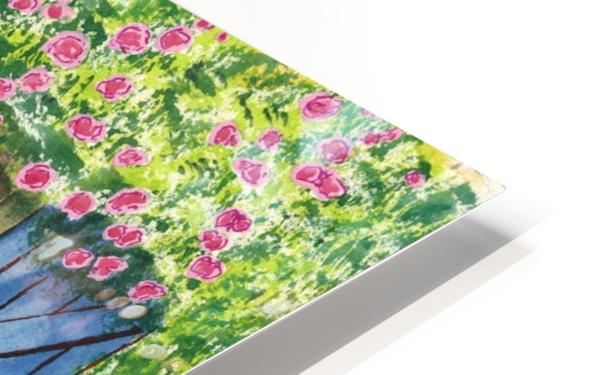 Rose cottage HD Sublimation Metal print