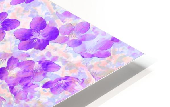 Purple Spring Flowers HD Sublimation Metal print
